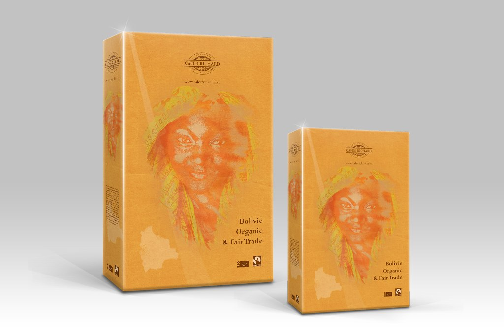 CR Bolivie Organic & Fair Trade Coffee Shop Packaging