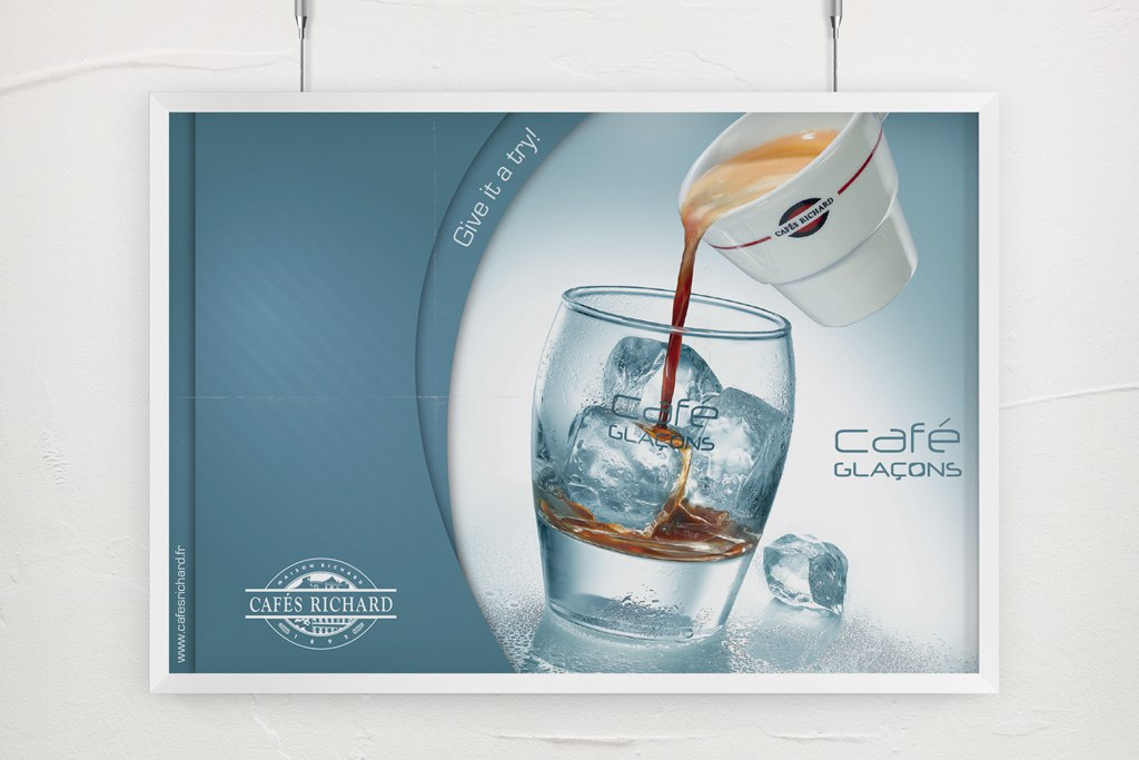 Cafe Glacons Poster