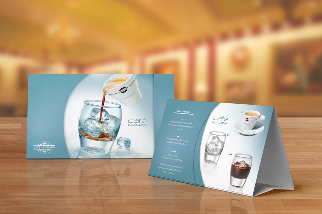 Cafe Glacons Table Tents
