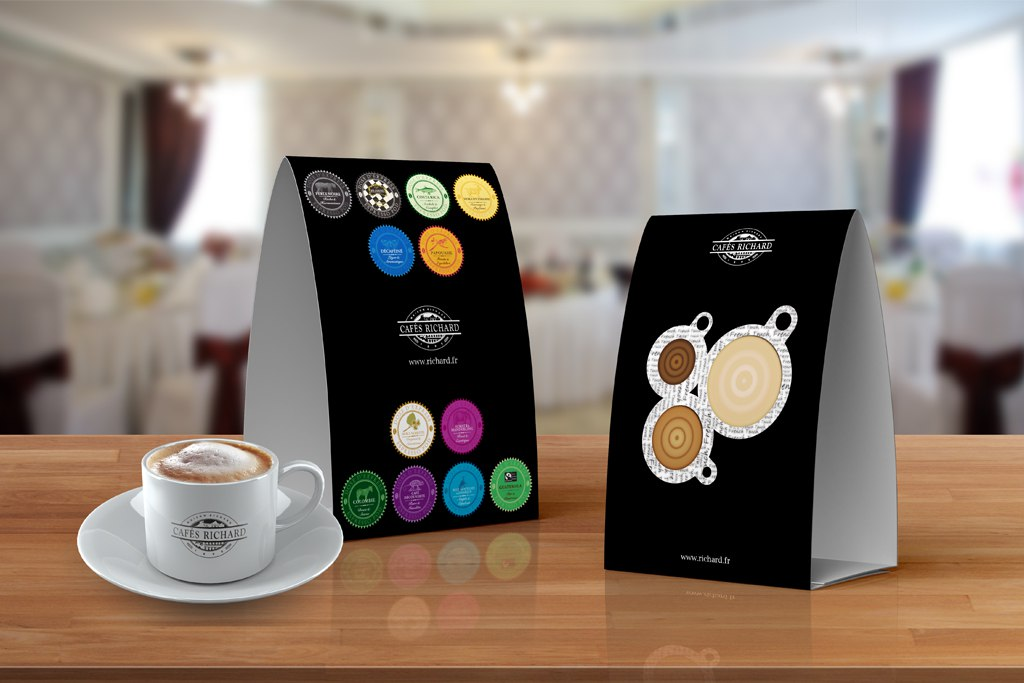 Cafes Richard Table Tents