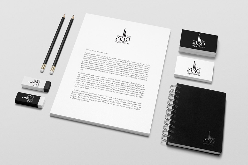 2130 Post Apartments Stationery